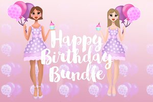 Birthday Graphics Bundle