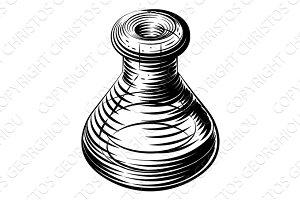 Vintage beaker or flask icon