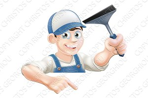 Pointing Window Cleaner