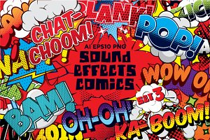 Comics sound effects set3