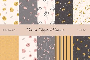 50% Off! Floria Digital Papers