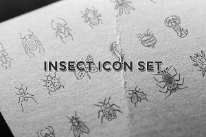 Insects LineArt Vector Set
