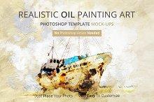Oil Painting Art Photoshop Mock-ups