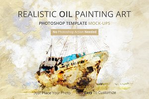 Oil Painting Art Photoshop Mock-ups