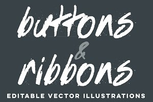 Vector Buttons and Ribbons