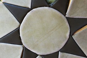 Leather Patchwork Detail