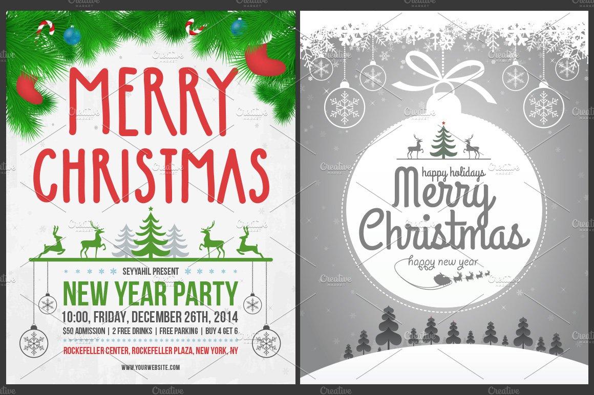 Christmas cards posters 30 off flyer templates creative market maxwellsz