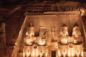 Abu Simbel at night