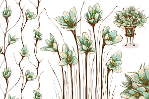 Vintage Flowers Collection 3 in 1