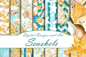 Seashell paper pack