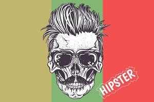 Hipster skull of human