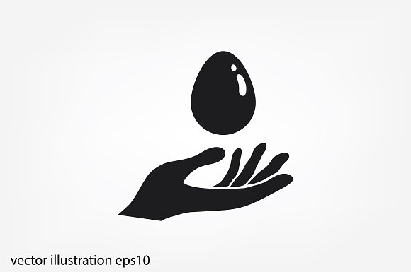 Egg And Hand Icon