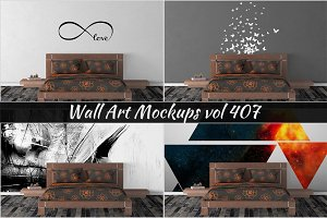 Wall Mockup - Sticker Mockup Vol 407