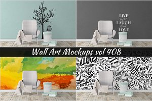 Wall Mockup - Sticker Mockup Vol 408