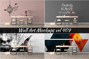 Wall Mockup - Sticker Mockup Vol 409