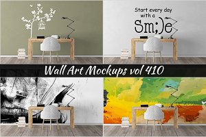 Wall Mockup - Sticker Mockup Vol 410