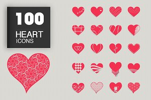 JI-Heart Icons Set