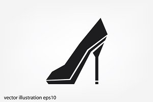 Shoe vector icon