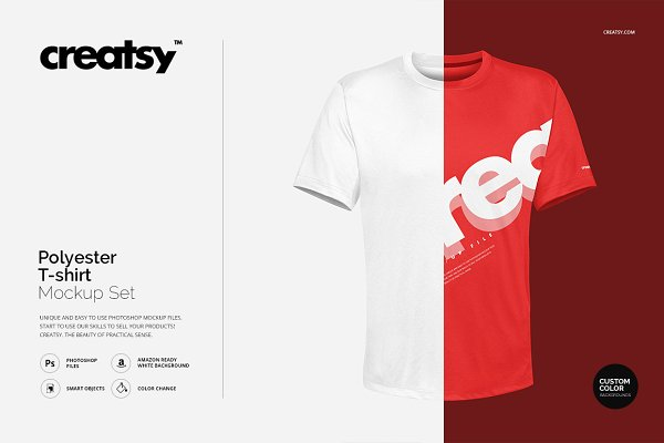 Polyester T-shirt Mockup Set