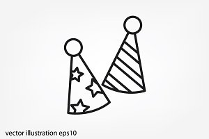 Party hats vector icon