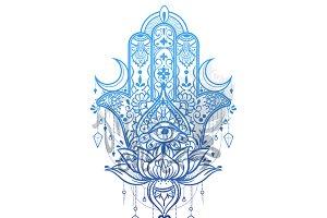 Hamsa Hand Intricate Design