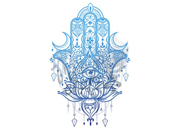 hamsa hand intricate design illustrations creative market