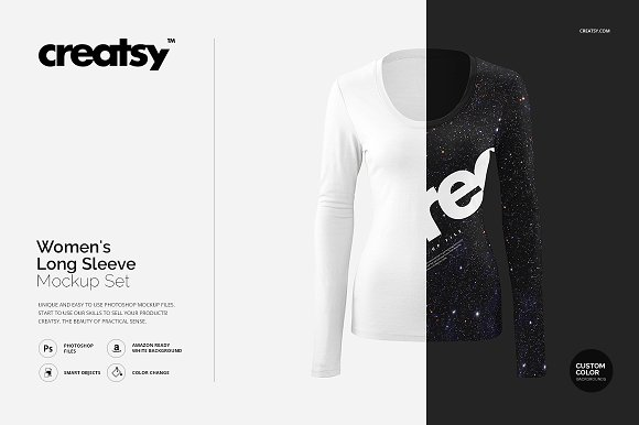 Womens Long Sleeve Mockup Set
