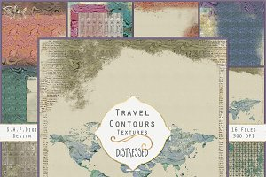 Travel Papers:  Map,  Anchor, Ticket