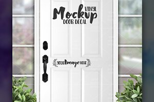Front Door Vinyl Decal Mockup
