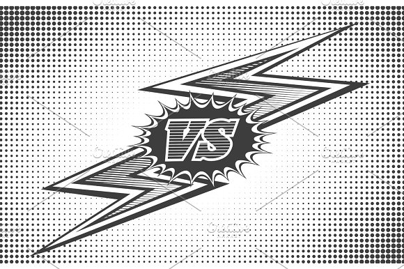 Versus Letters Background In Retro Style