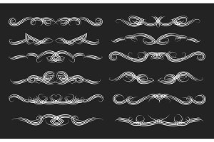 Swirl vintage dividers set