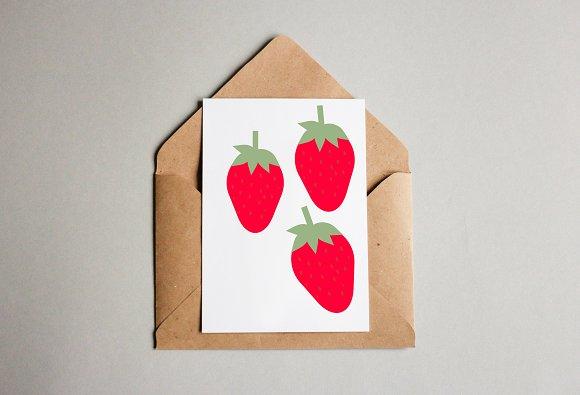 Wild Strawberry Art Illustration