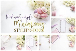 Pink &Purple Macaroon Desktop Bundle