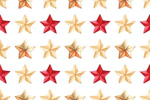 Star medal seamless pattern vector