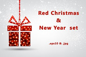 Red Christmas & New Year set