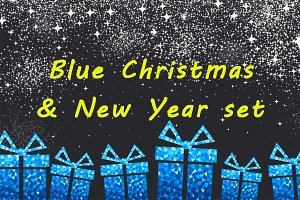 Blue Christmas & New Year set