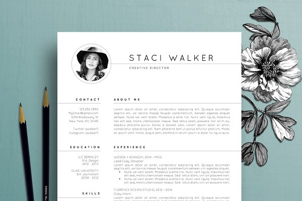 Resume Template / CV + Cover Letter