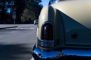 Old Antique Car Back Side