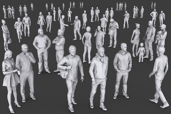 Person: kanistra studio - Complete Lowpoly People Pack