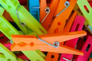 Clothespin Different Colours