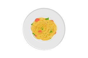 Spaghetti pasta with tomatos