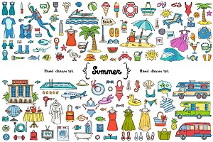 Vector set on the theme of summer