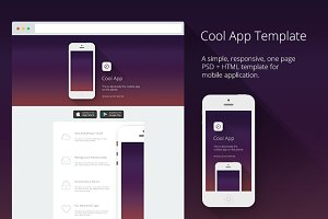 Cool App | PSD + HTML Template