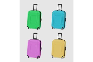 Four durable suitcases