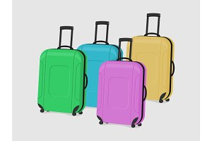 Vector illustration of suitcases