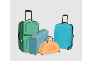 Vector Set of suitcases