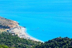 Ksamil summer sea coast, Albania