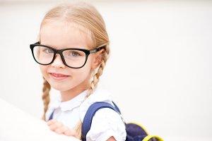 Pupil girl closeup