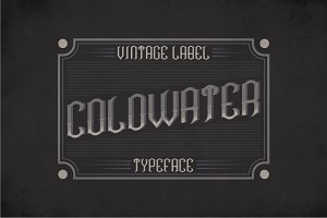Coldwater Label Typeface