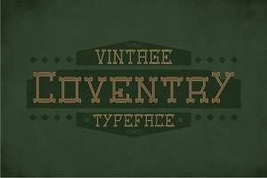 Coventry Label Typeface